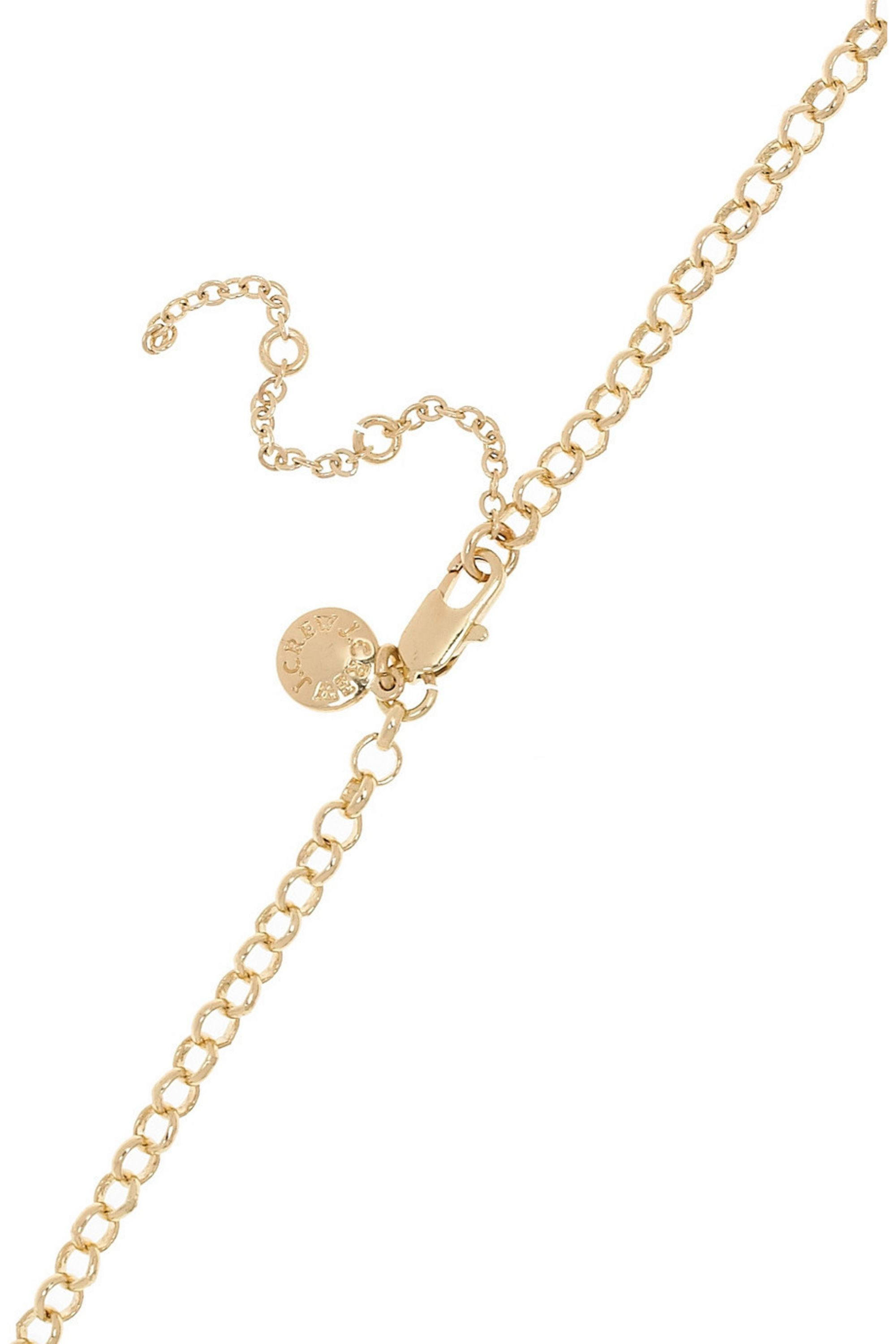 J.Crew Bubble 18-karat gold-plated necklace