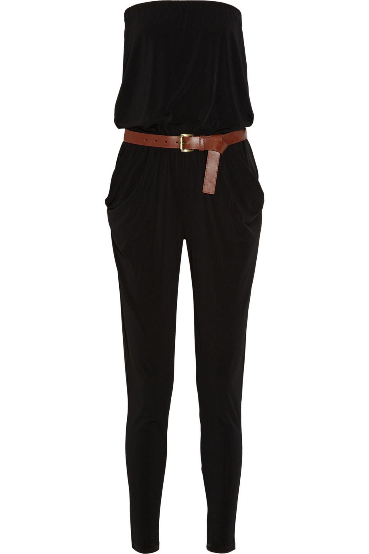 MICHAEL Michael Kors Belted crepe-jersey jumpsuit