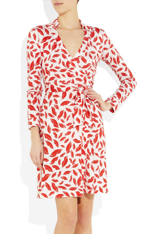 Diane von Furstenberg New Jeannie Two printed silk-jersey wrap dress