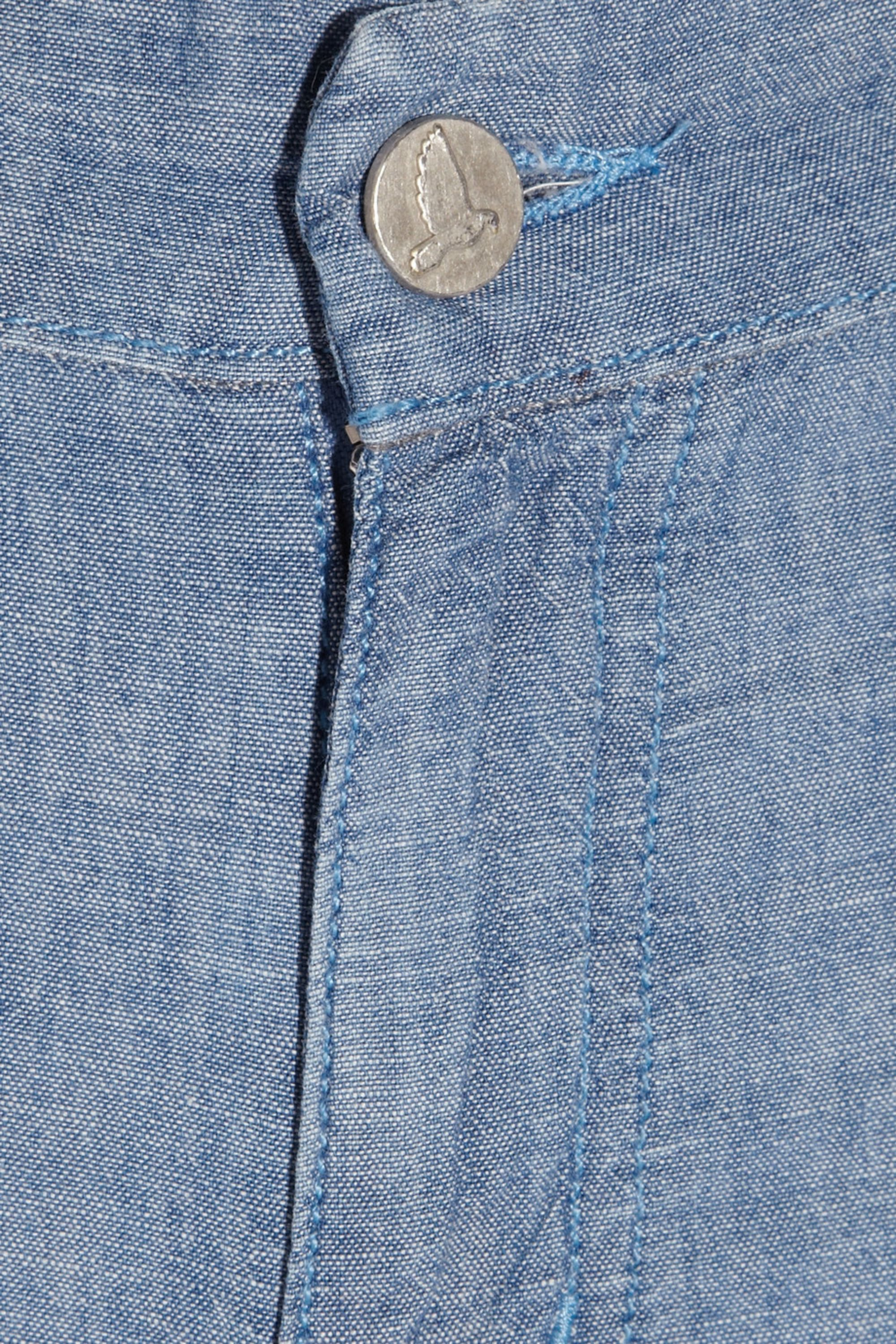 M.i.h Jeans Miramar mid-rise wide-leg chambray jeans