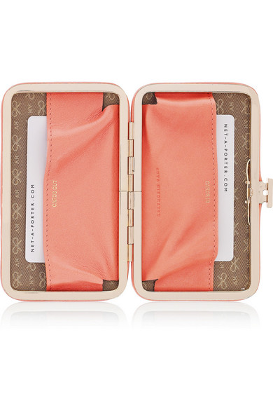 Miami heart-studded leather card holder