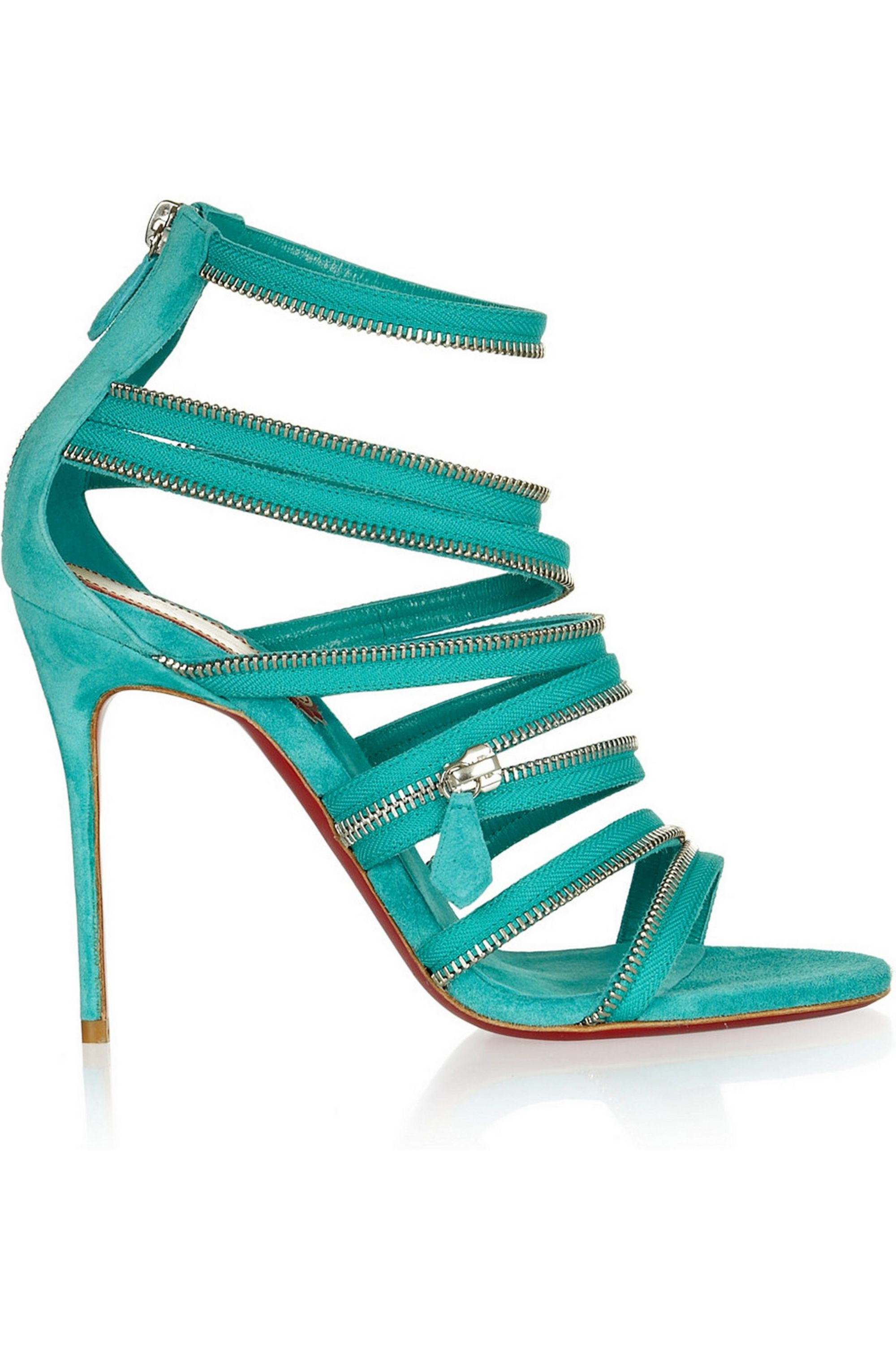 Christian Louboutin 20th Anniversary Unzip 100 suede sandals