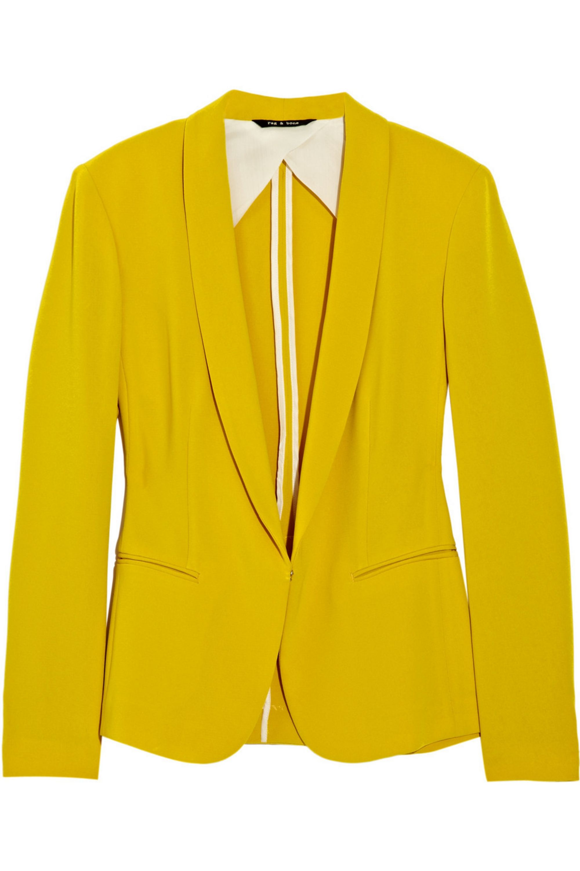 rag & bone Sliver Tuxedo crepe blazer