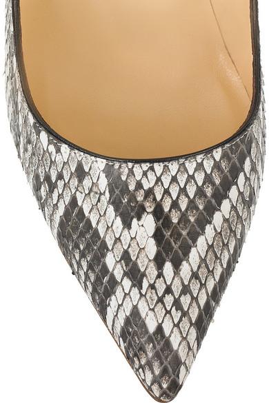 de4352669511 Christian Louboutin. Lipsinka 120 pin-heeled python pumps.  1