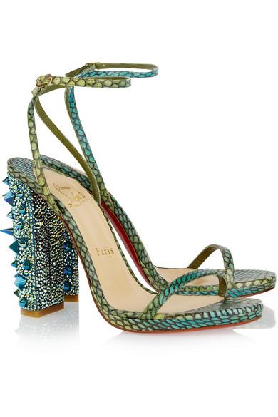 521b986cc83 Au Palace 120 Swarovski crystal-embellished snake sandals