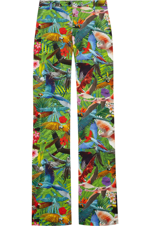 Altuzarra Redwood tropical-print stretch cotton-blend flared pants