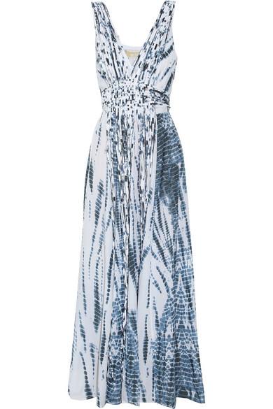 Michael Kors Tie Dye Cotton Maxi Dress