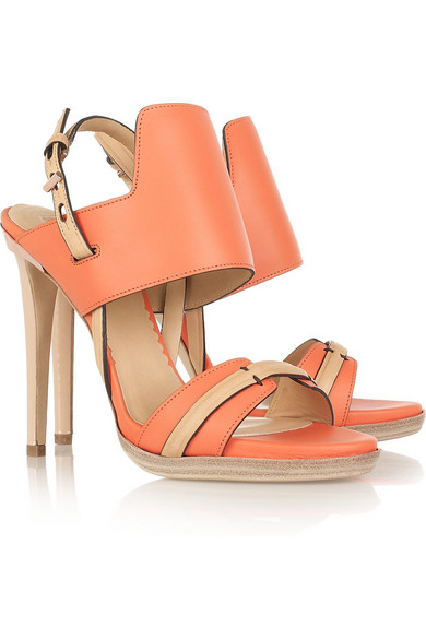 Sale alerts for Two-tone leather sandals Reed Krakoff - Covvet