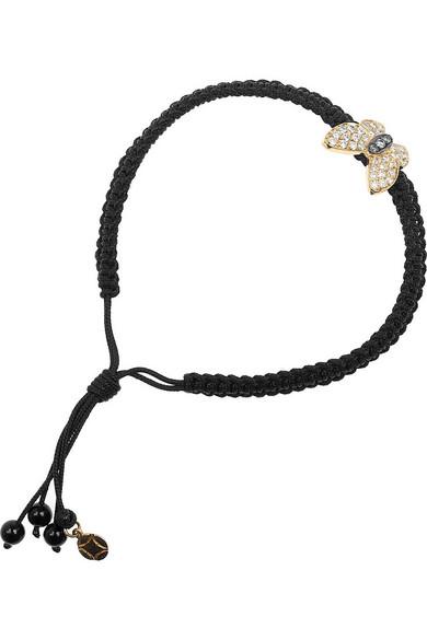 Vanessa Kandiyoti | 18-karat gold diamond butterfly charm bracelet | NET-A-PORTER.COM