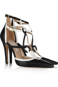 Oscar de la Renta | Marlene leather pumps | NET-A-PORTER.COM