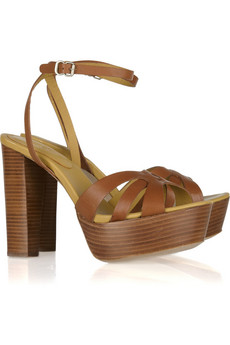 See by Chloé | Wooden-heeled leather sandals | NET-A-PORTER.COM
