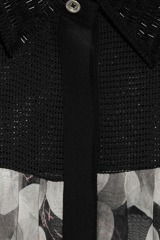 Jason Wu Collection Kaws printed silk-chiffon dress