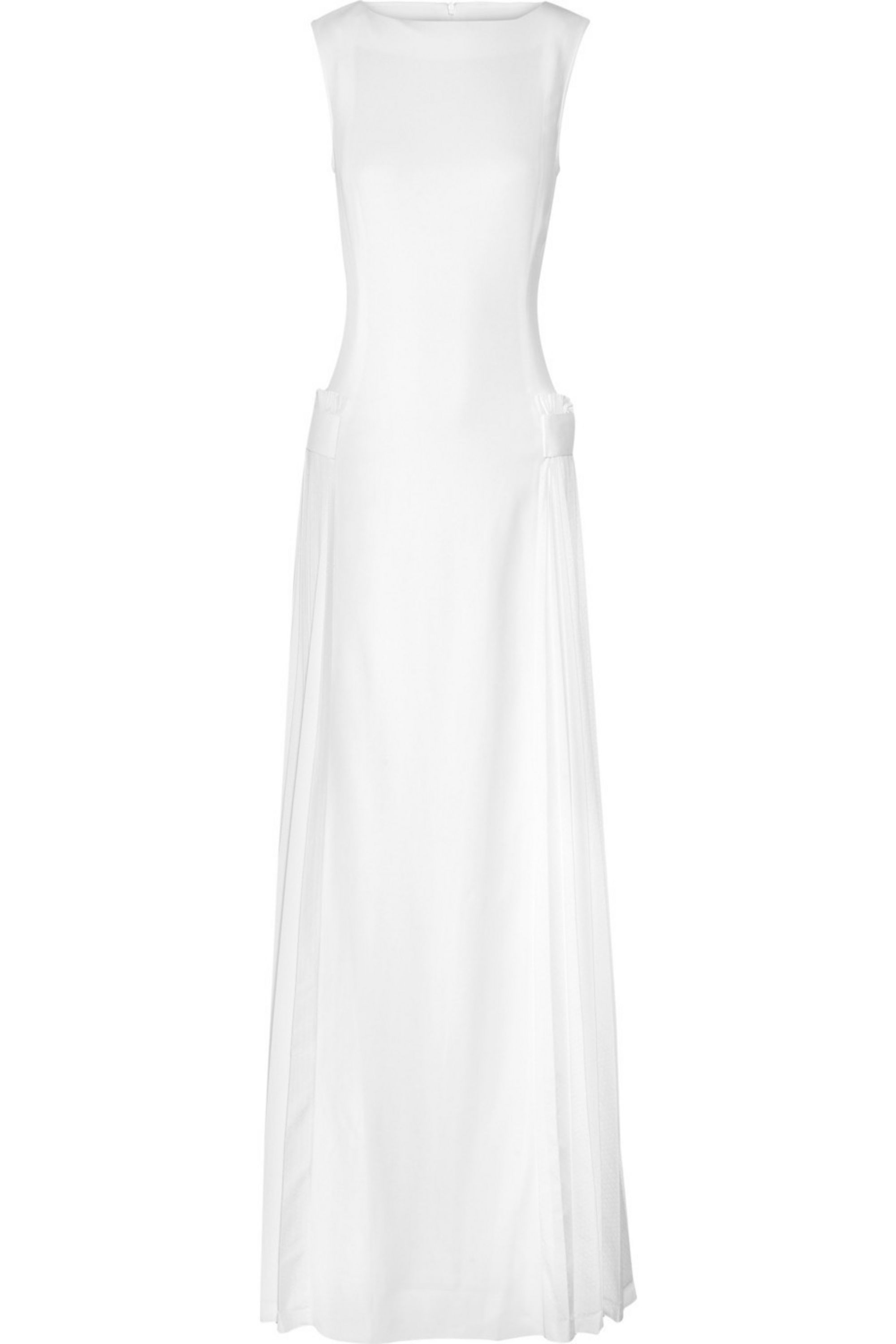 Victoria Beckham Pleat-detailed stretch-crepe gown