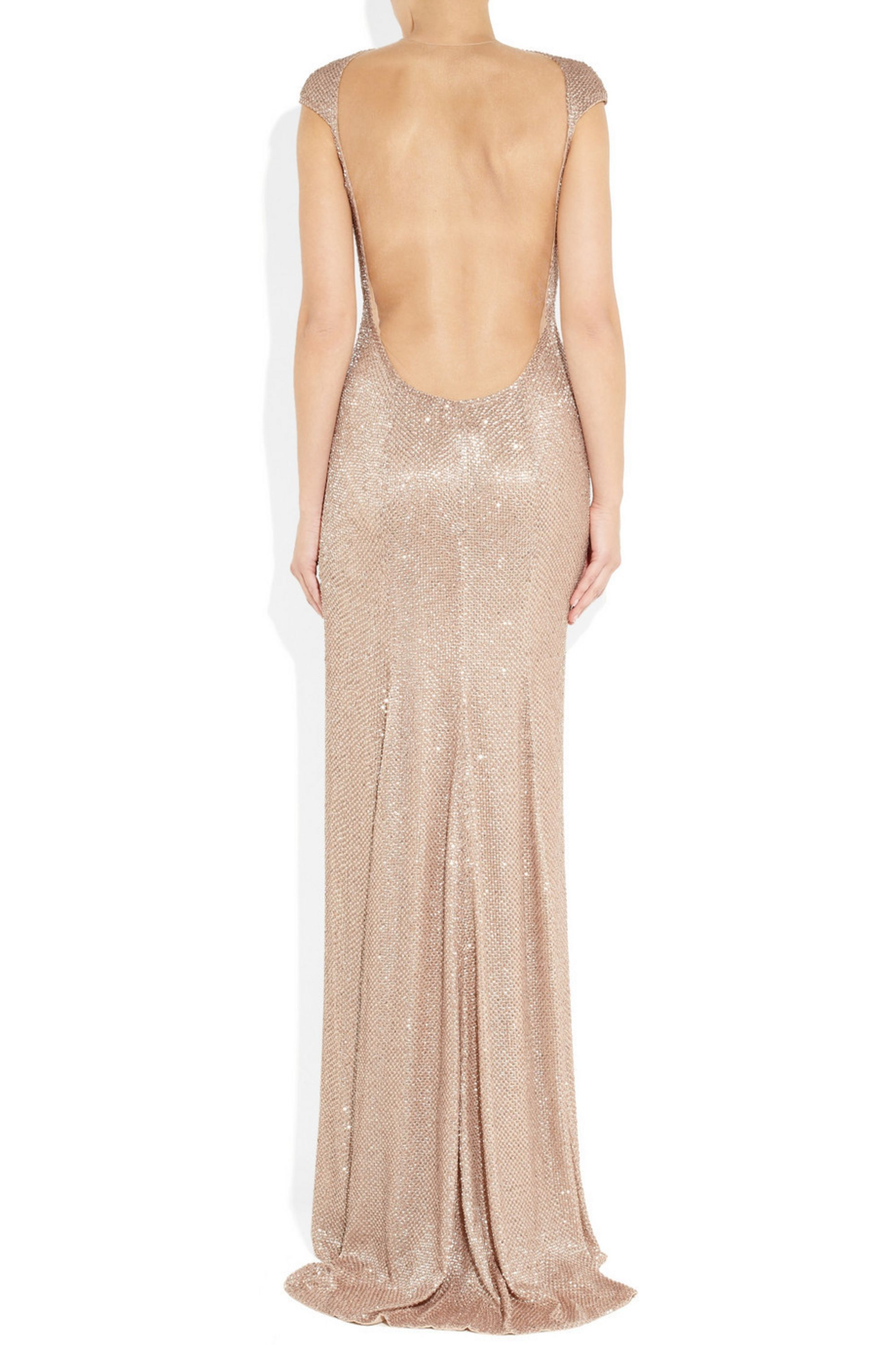 KAUFMANFRANCO Sequined silk and tulle gown