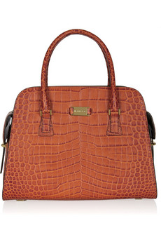 Michael Kors | Gia croc-effect leather tote | NET-A-PORTER.COM from net-a-porter.com
