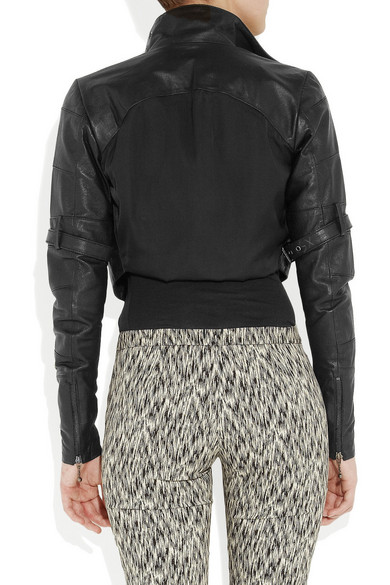 Preen Line Fencing Cropped Leather Jacket Net A Porter Com