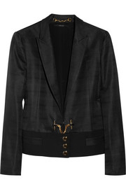 Gucci Silk-faille Ottoman jacket