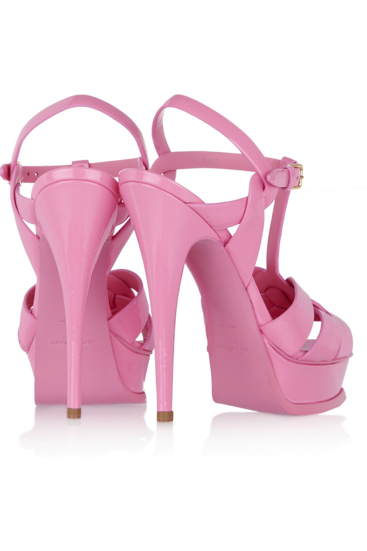 Yves Saint Laurent Tribute patent-leather sandals