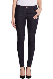 J Brand 620 Power Stretch mid-rise skinny jeans