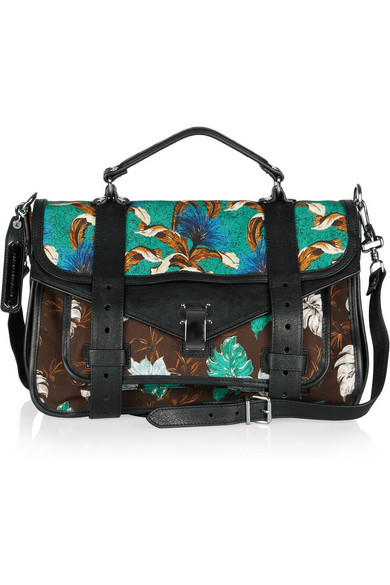 a49b18e97f1638 Proenza Schouler | PS1 Medium printed canvas and leather satchel ...