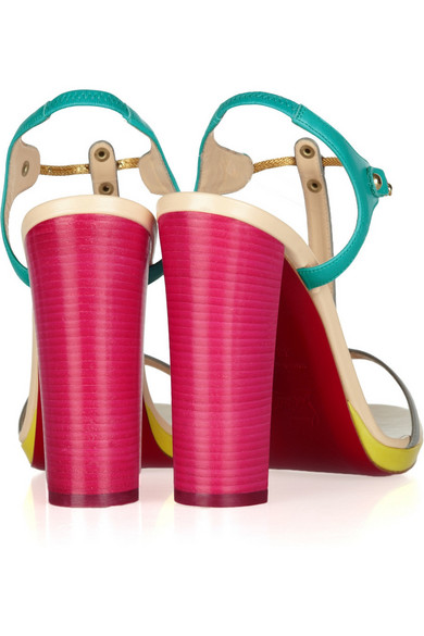 Christian Louboutin. Sylvieta 120 color-block leather sandals. �645. Zoom In