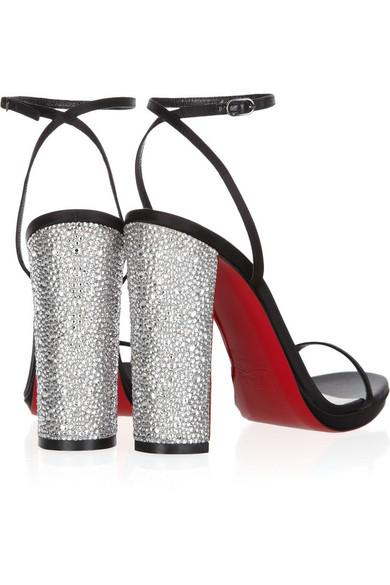 2dc809a5ddb Au Palace 120 crystal-heel satin sandals