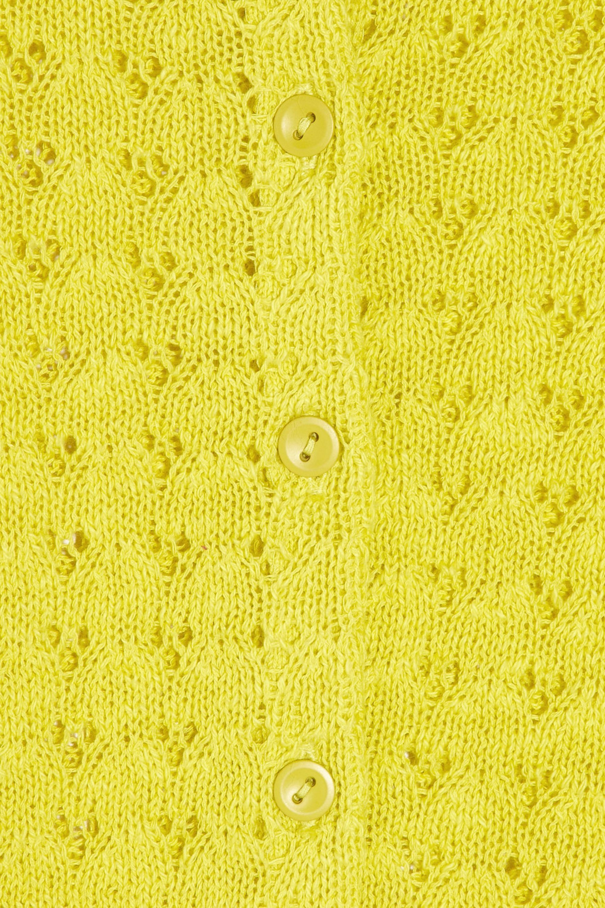 Rebecca Taylor Pointelle-knit cotton sweater