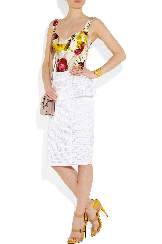 Dolce & Gabbana Onion and floral-print brocade bodysuit