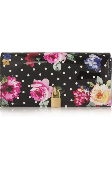 Floral leather wallet Dolce & Gabbana 7aZS2ud