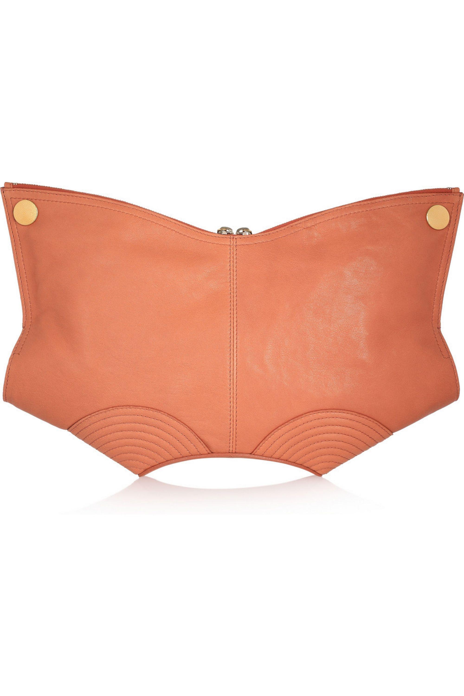 Alexander McQueen De Manta leather clutch