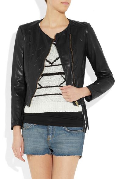 808e2eff5 Lemmy cropped fringed leather jacket