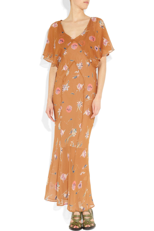 Kain Badu printed silk-chiffon maxi dress