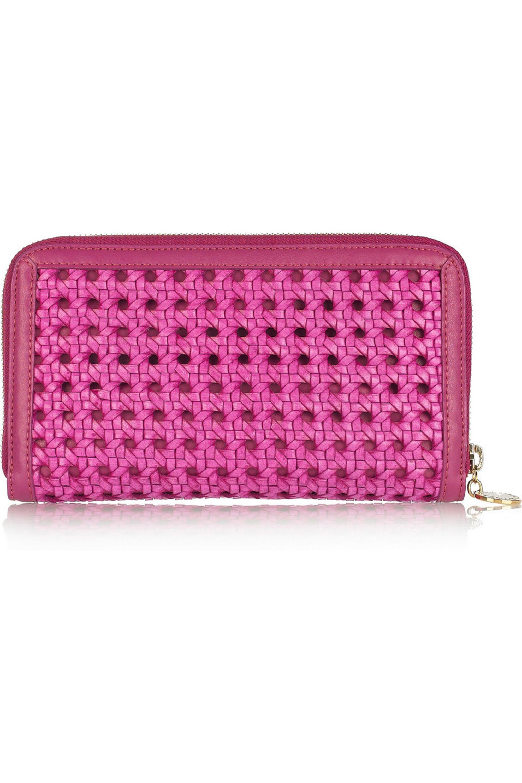 Stella McCartney Pembridge woven faux leather wallet