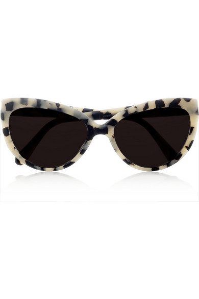 Prism Woman Cat-eye Printed Acetate Sunglasses Black Size Prism sYIEUR