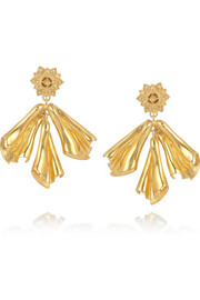 Gold-plated silver drop earrings