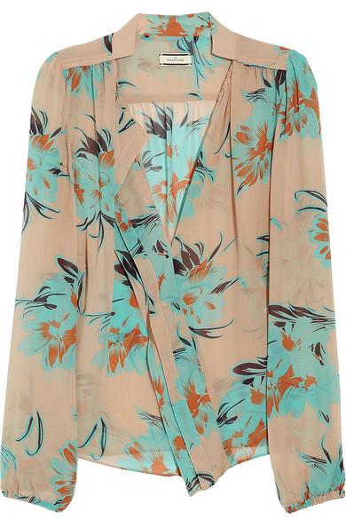 a727ea20eb0f6 By Malene Birger. Bartolomea floral-print silk-chiffon blouse