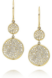 Ippolita Disc 18-karat gold diamond drop earrings