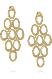 Cascade 18-karat gold earrings