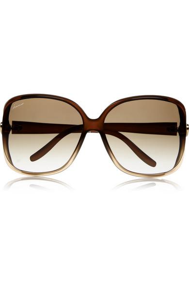 41db4ab3376 Gucci. Oversized square-frame acetate sunglasses