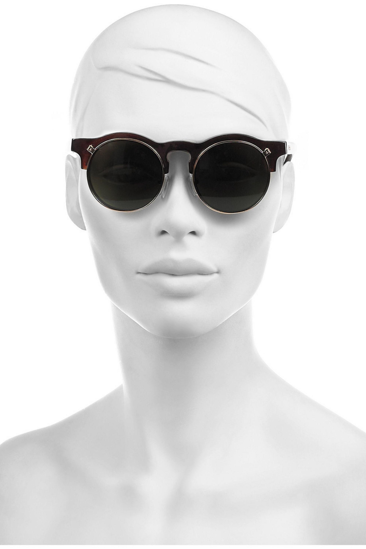 Carven Anastasie flip-up round-frame acetate sunglasses