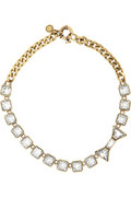 Marc by Marc Jacobs | Brass and crystal bow necklace | NET-A-PORTER.COM