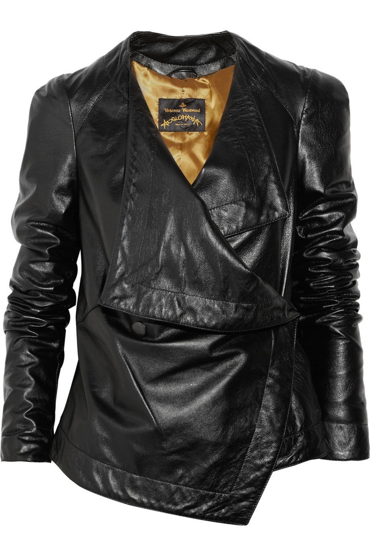 Vivienne Westwood Anglomania Bayonet asymmetric leather jacket