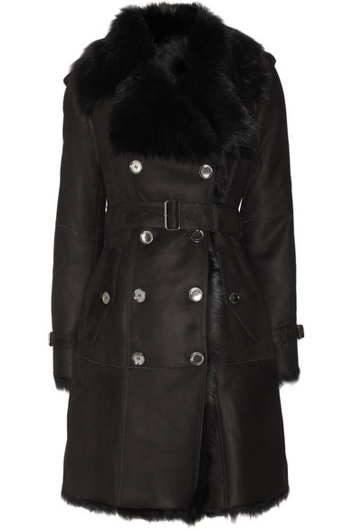 Burberry | Shearling trench coat | NET-A-PORTER.COM