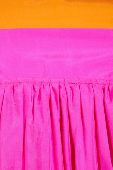 Tibi colorblock sandwashed-silk maxi dress