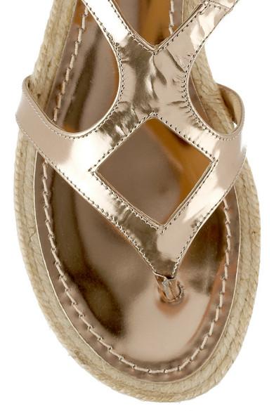 cf1f37c57e221 Jimmy Choo | Peachy metallic leather gladiator sandals | NET-A ...