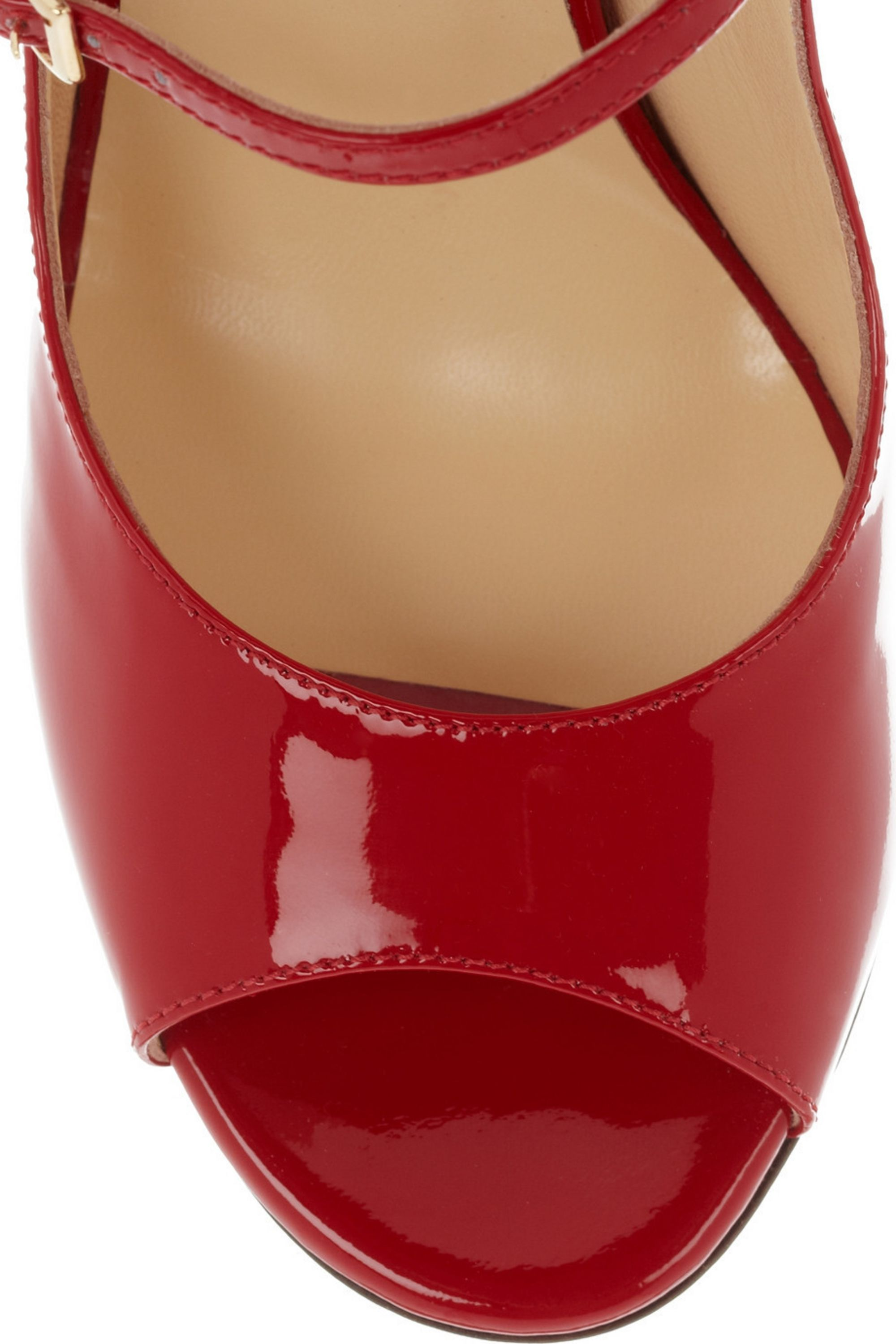 Jimmy Choo Giovanna patent-leather wedge sandals