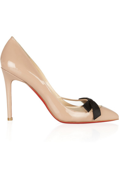 2cdfd00629 Christian Louboutin. Love Me 100 leather and mesh pumps