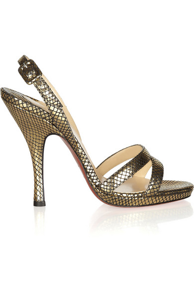 cheap online Christian Louboutin Lizard Slingback Sandals cheap find great with paypal sale online m4QX7Qg