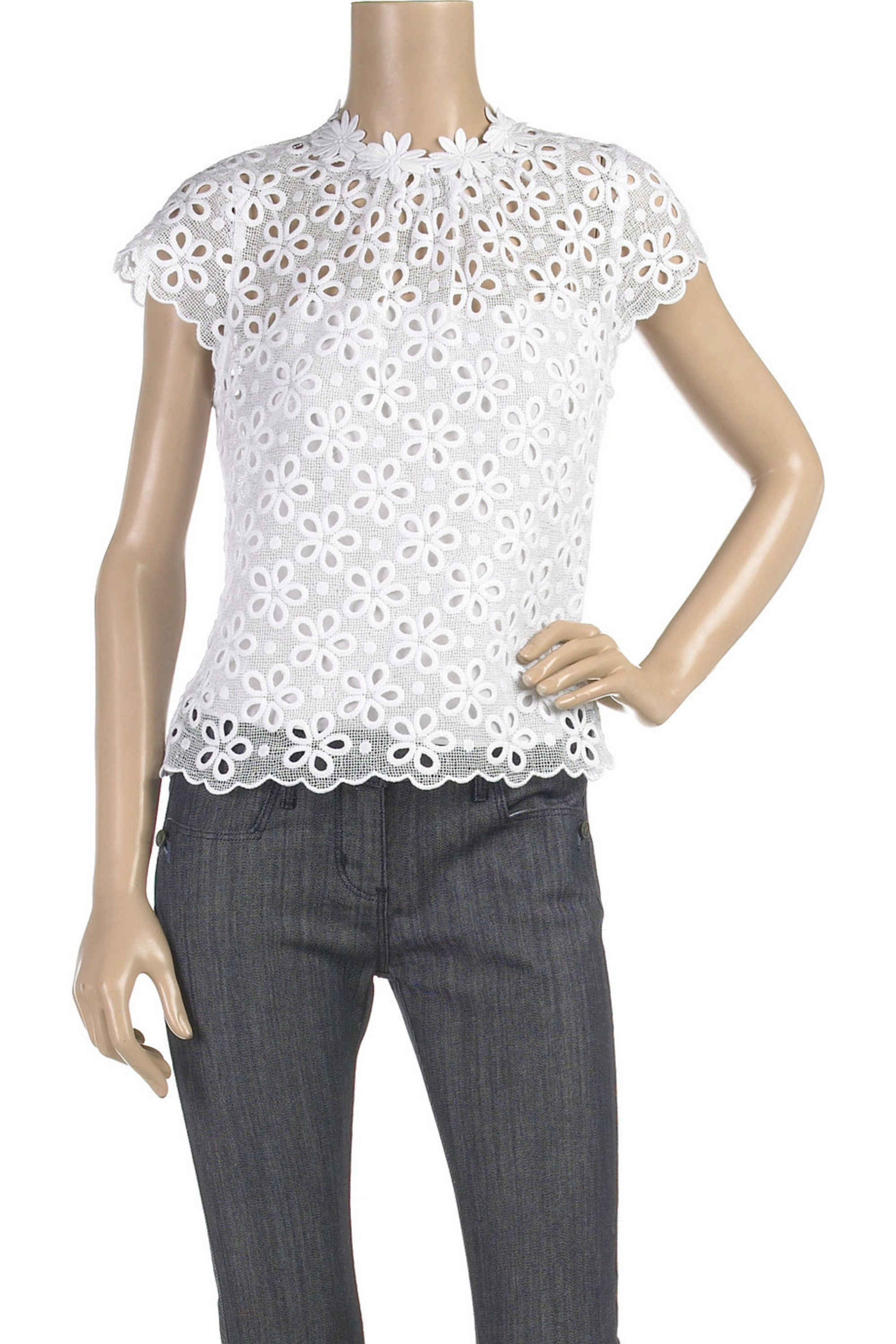 Milly Daisy cotton macrame top