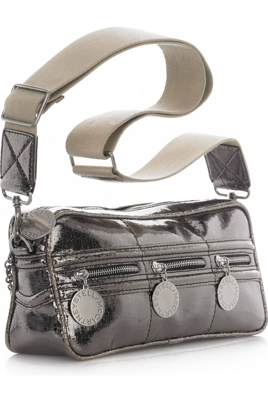 Stella McCartney Metallic coated canvas bag